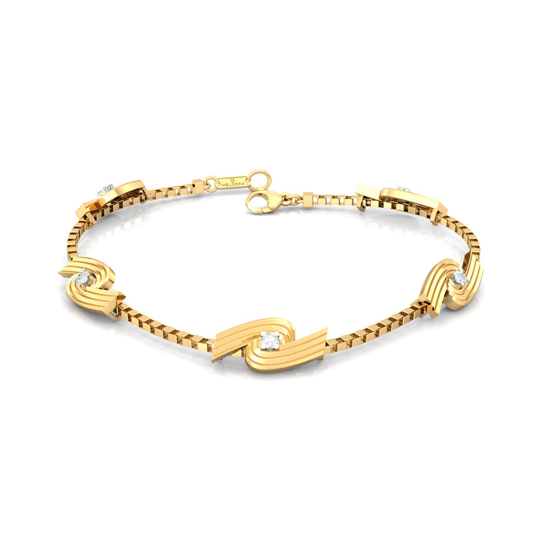 Spiral Star Diamond Bracelets
