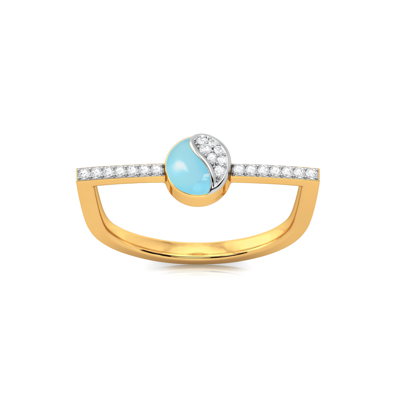 Morning blue Diamond Rings