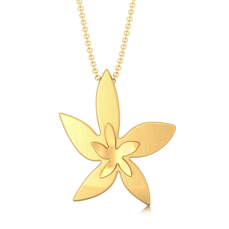 Golden Starflower Gold Pendants