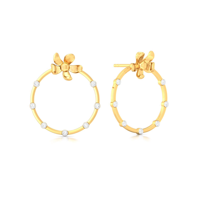 Floral Wreath Diamond Earrings