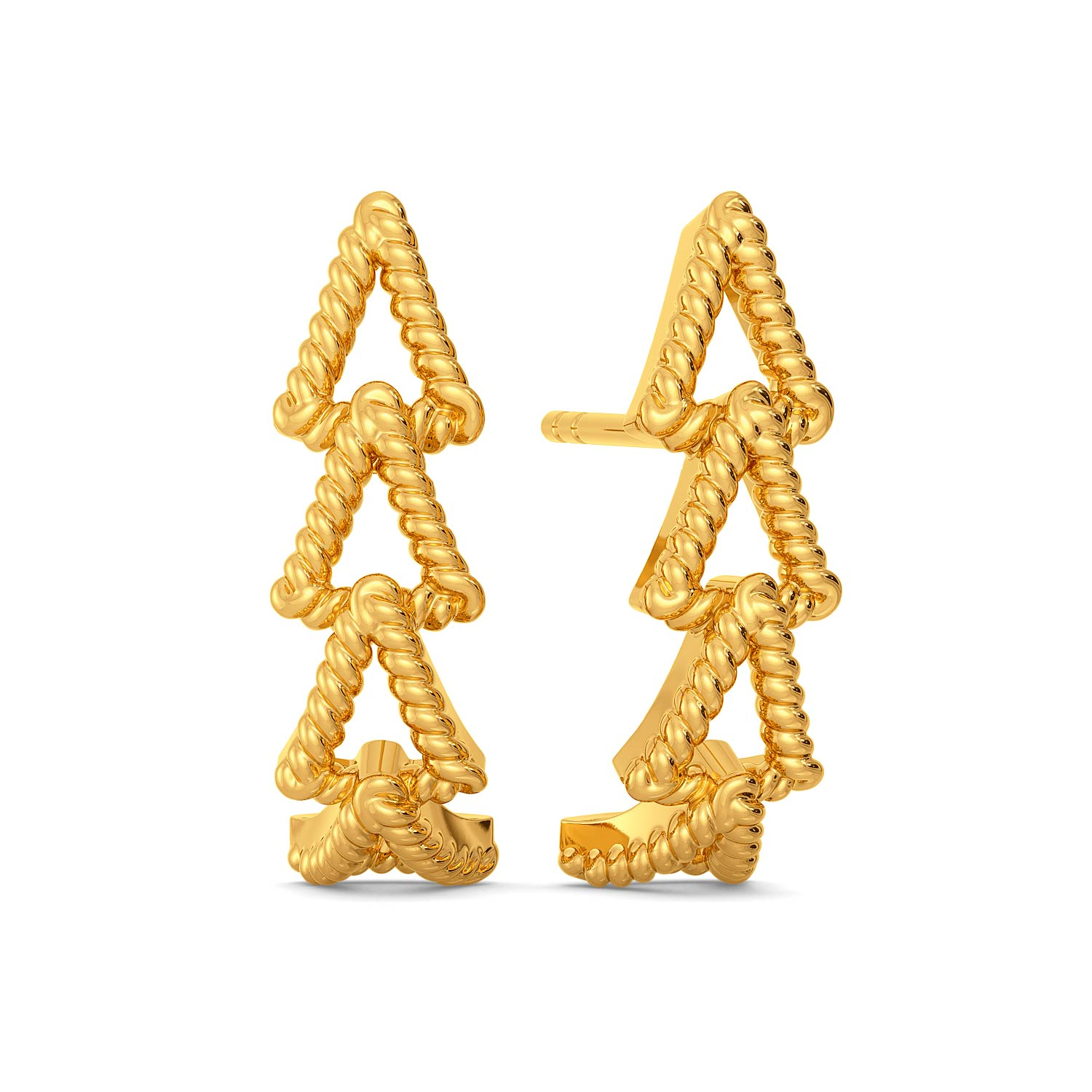 Lily Trilogy Gold Earrings
