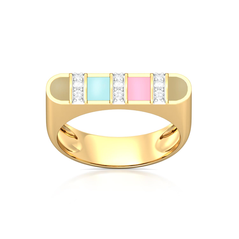 Shell & Sand Diamond Rings