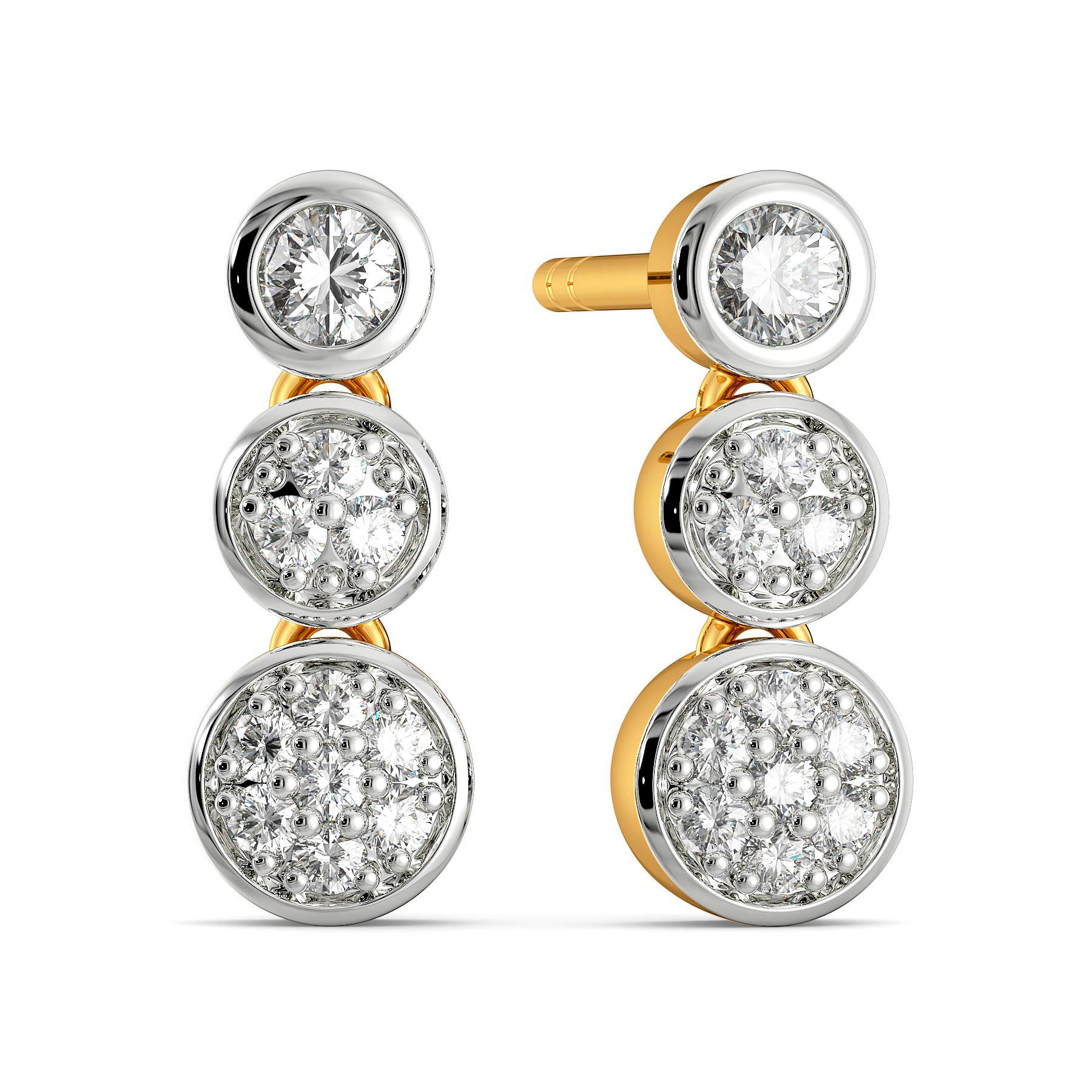 Trio Talk Diamond Earrings