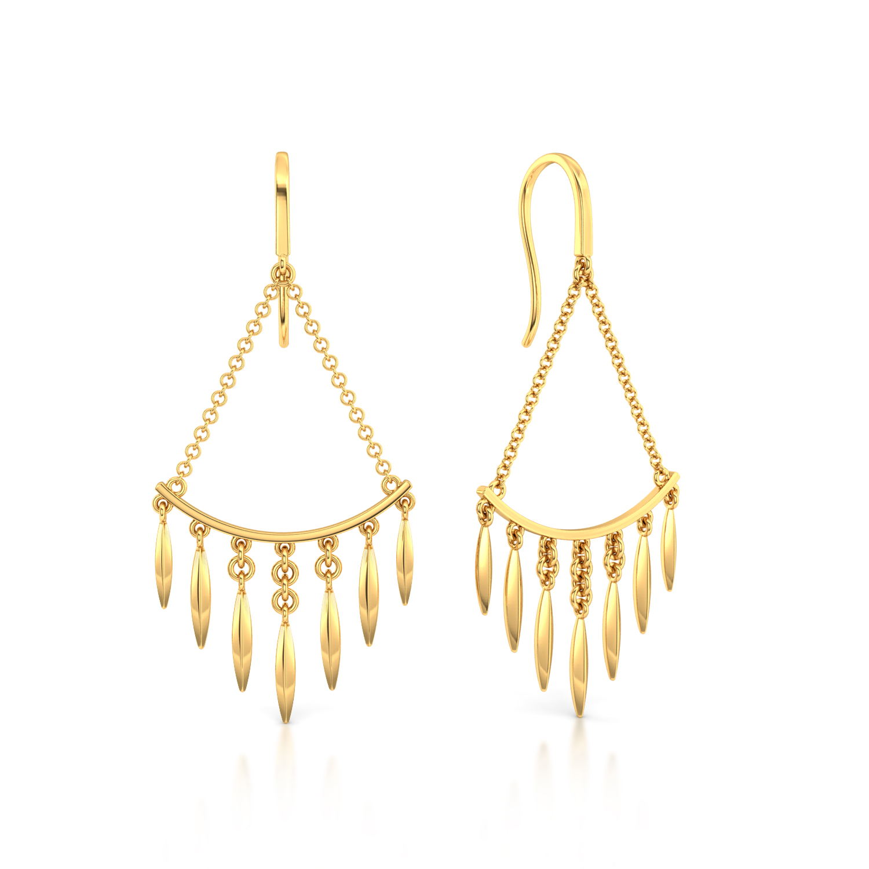 Fancy A Fringe Gold Earrings