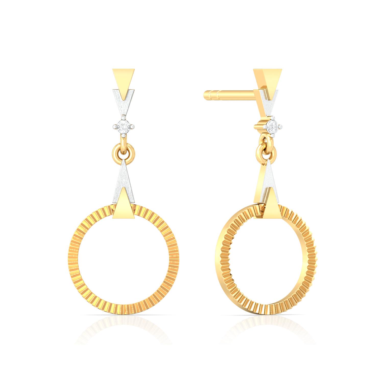Celestial Halo Diamond Earrings