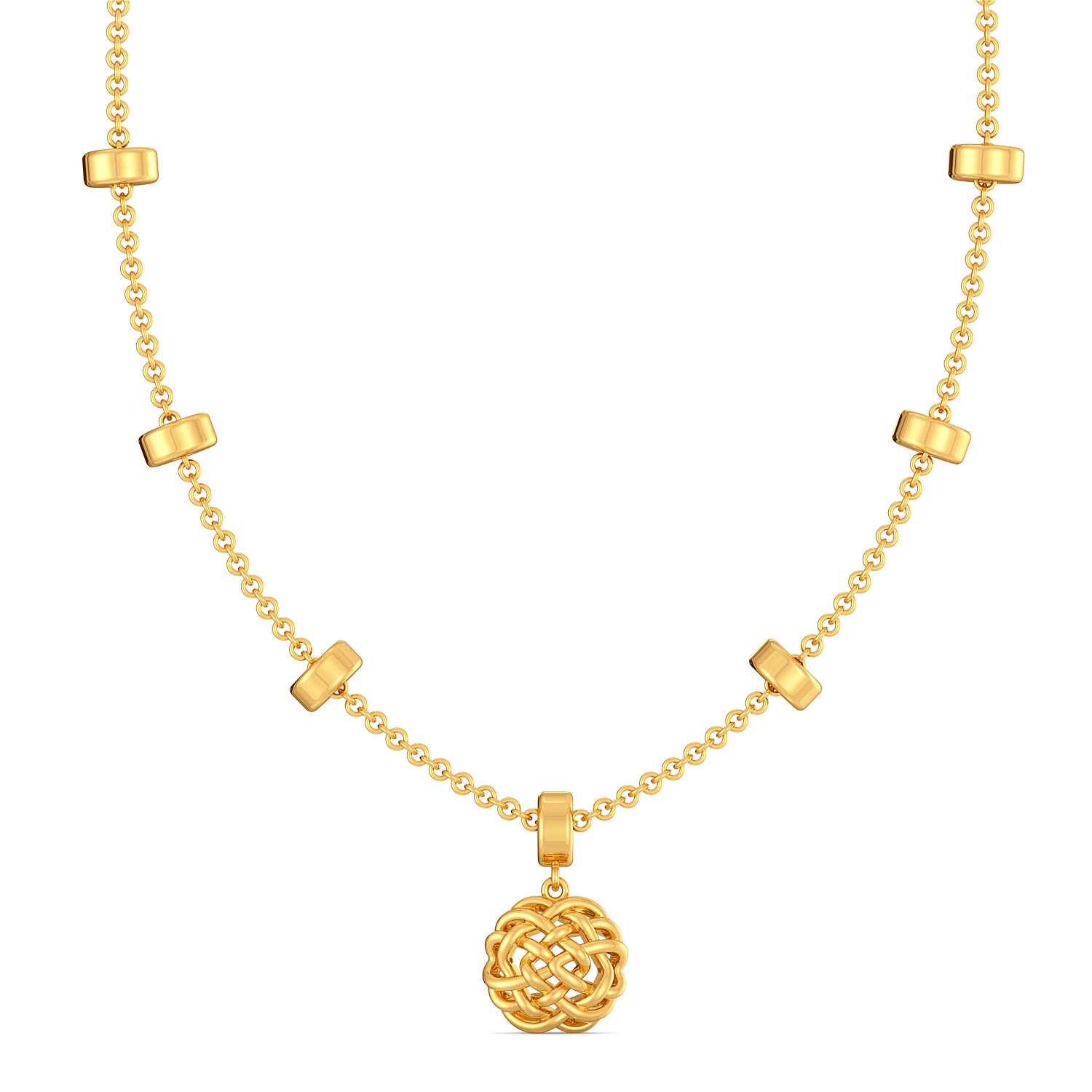 The Bullion Knot Gold Necklaces