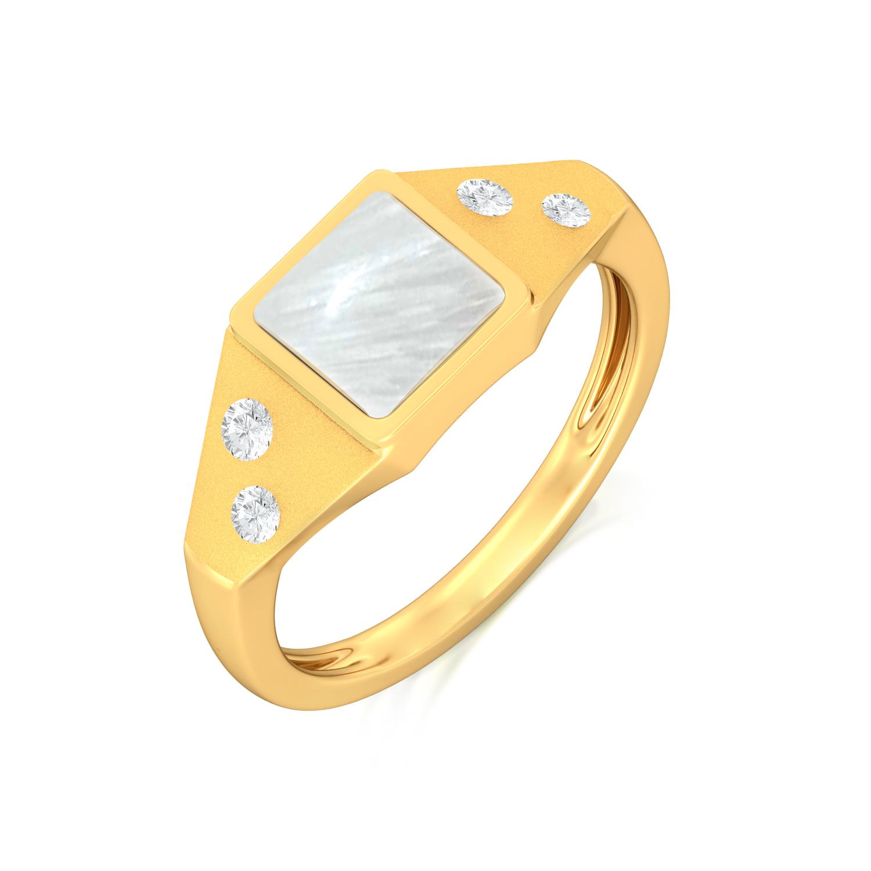 Icy White Diamond Rings