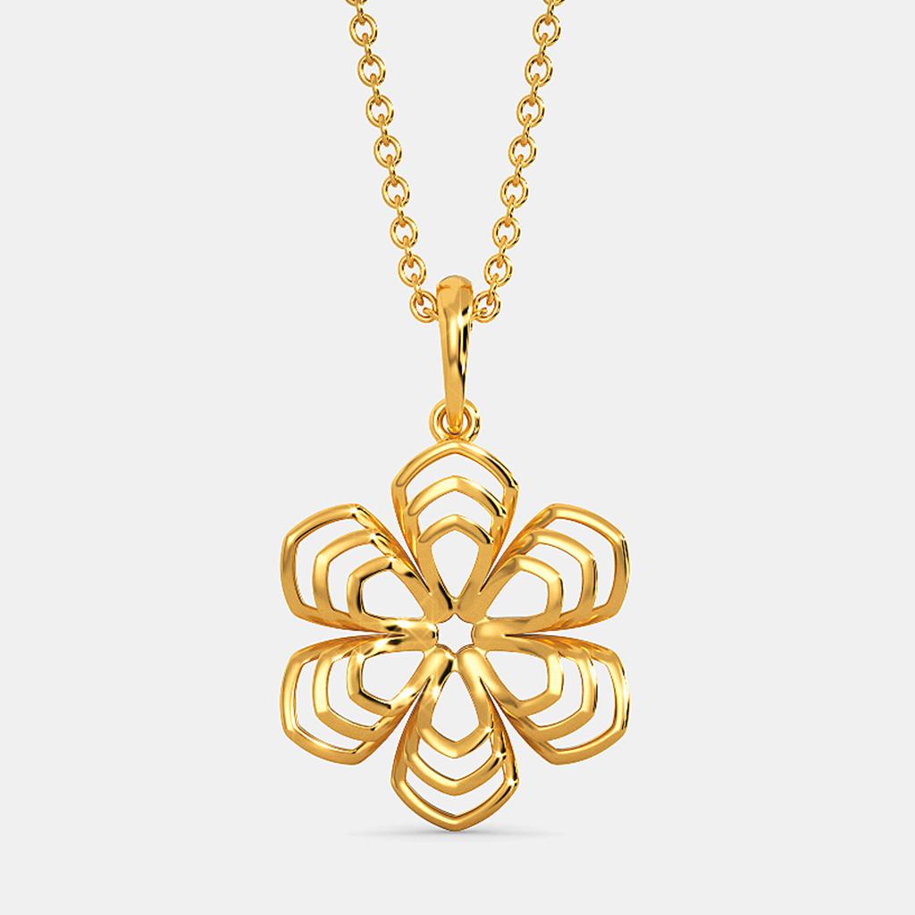 Fleurs Trippées Gold Pendants