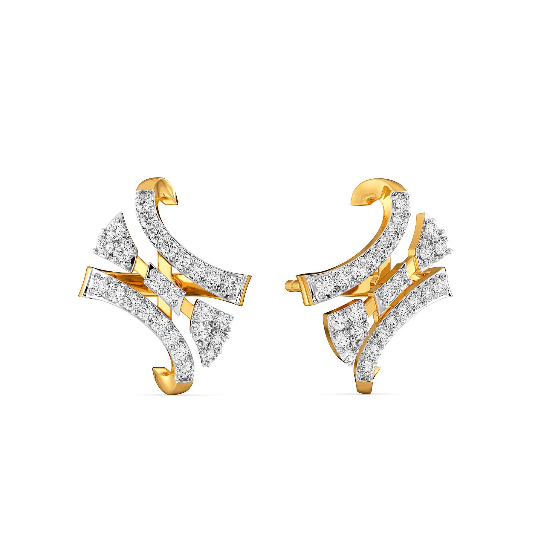 Chic Confetti Diamond Earrings
