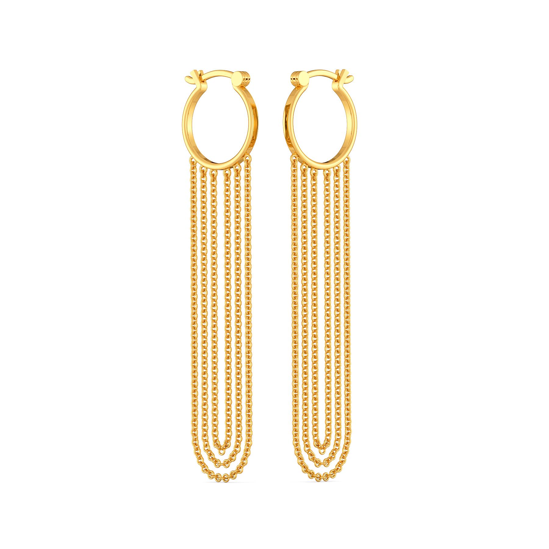 Extra on Fringe Gold Earrings