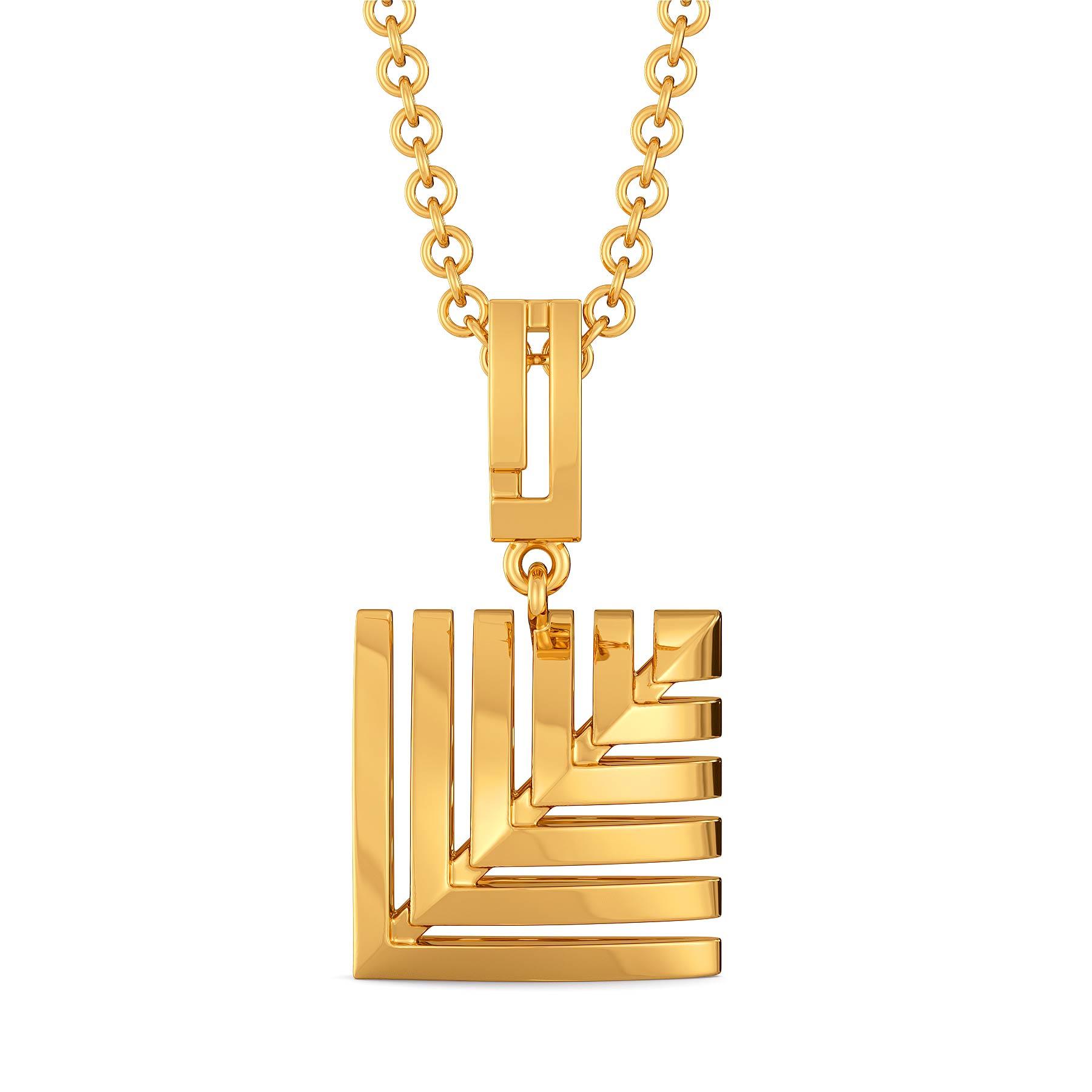 Skimpy Squares Gold Pendants