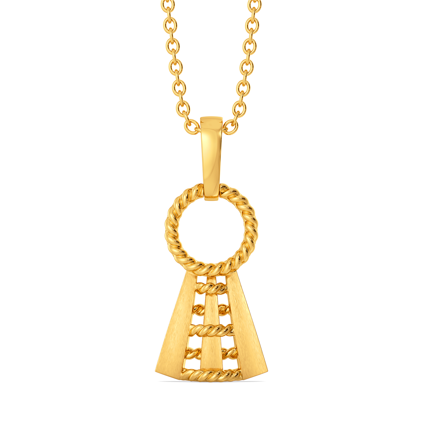 Practically Entwined Gold Pendants