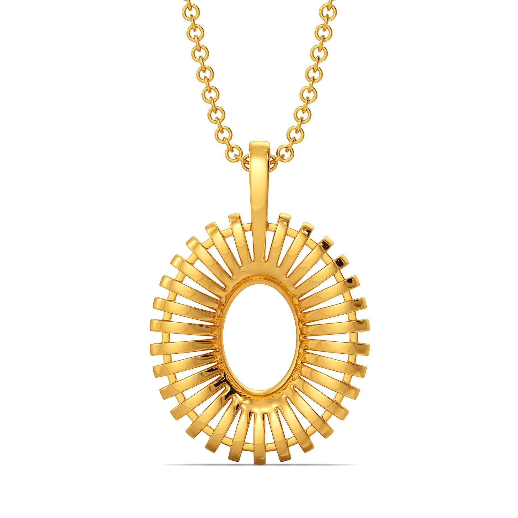 Cool Raffia Gold Pendants