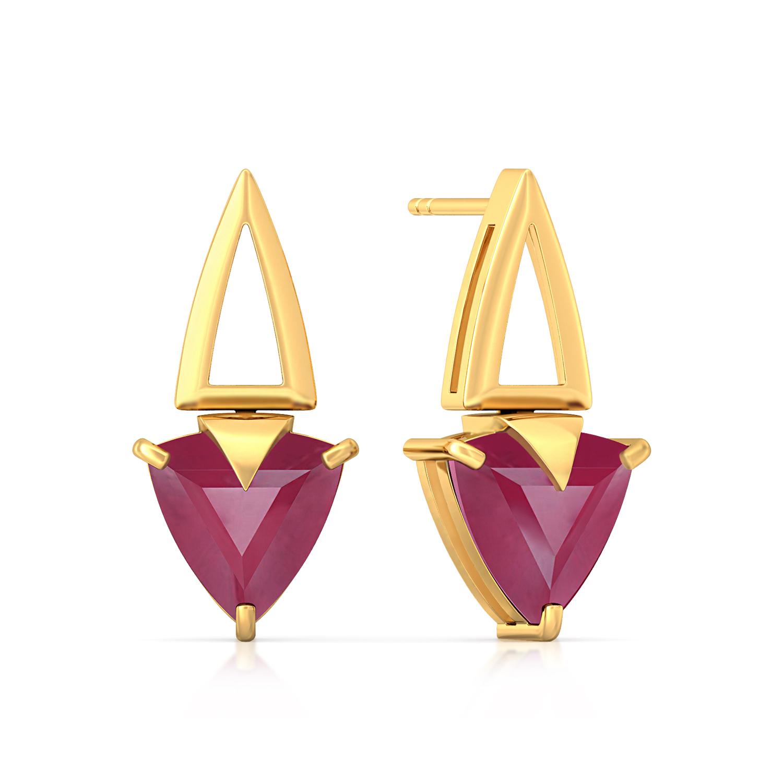 Sangria Twirl  Gemstone Earrings