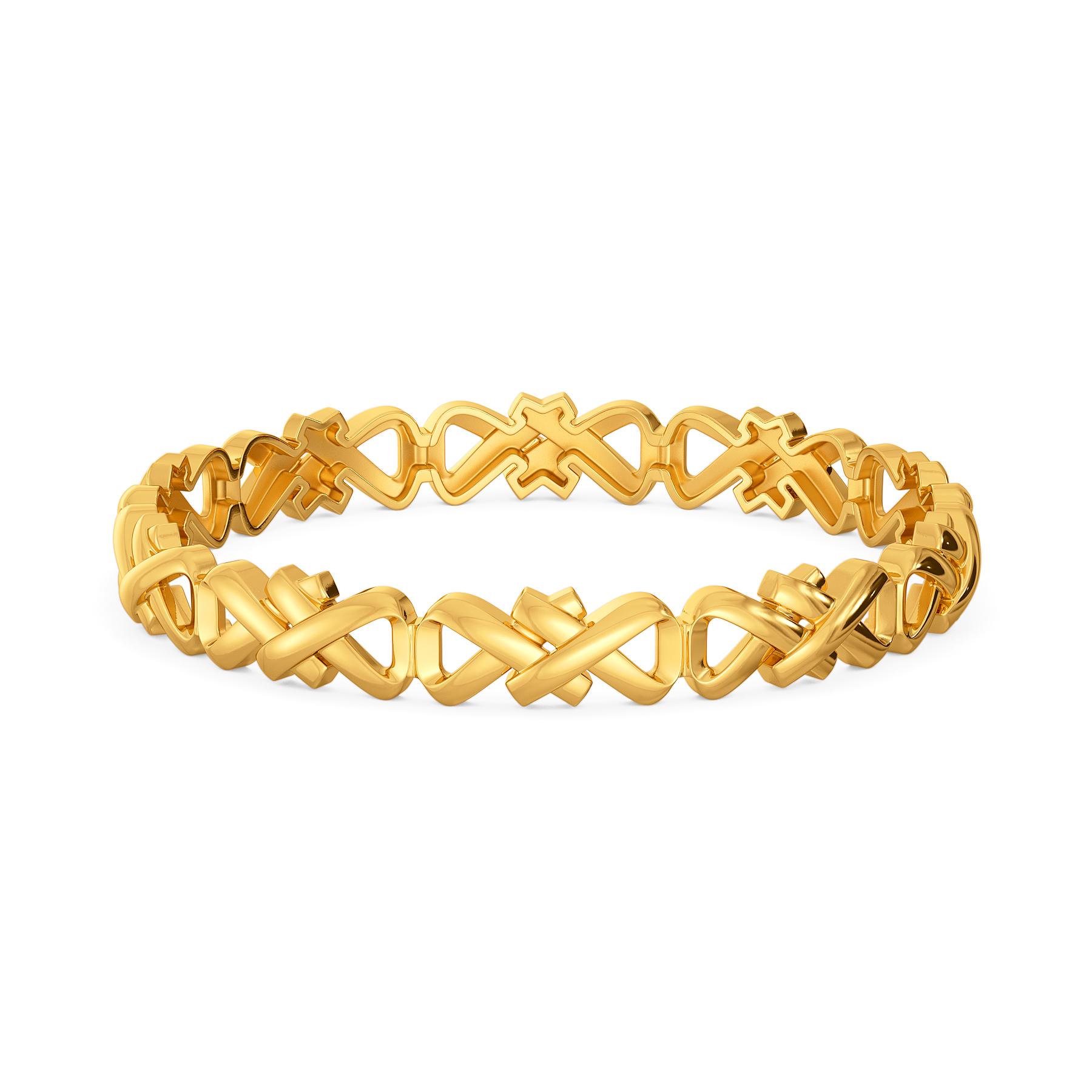 Flap Straps Gold Bangles