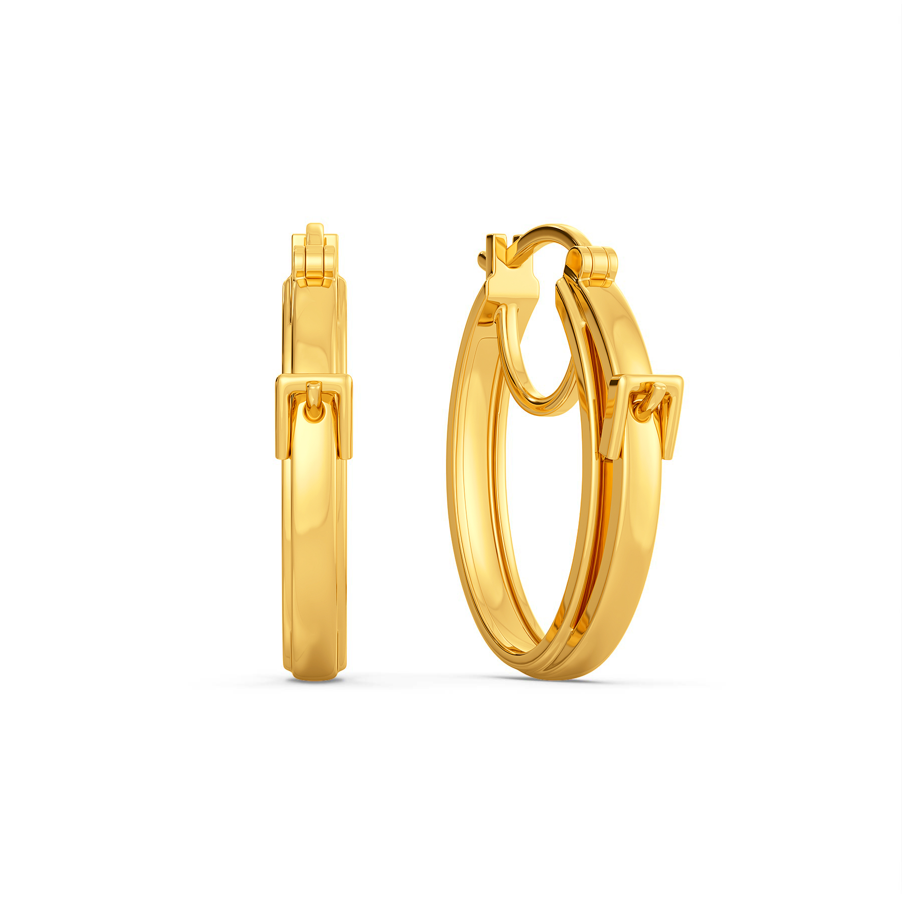 Claspin' Confident Gold Earrings