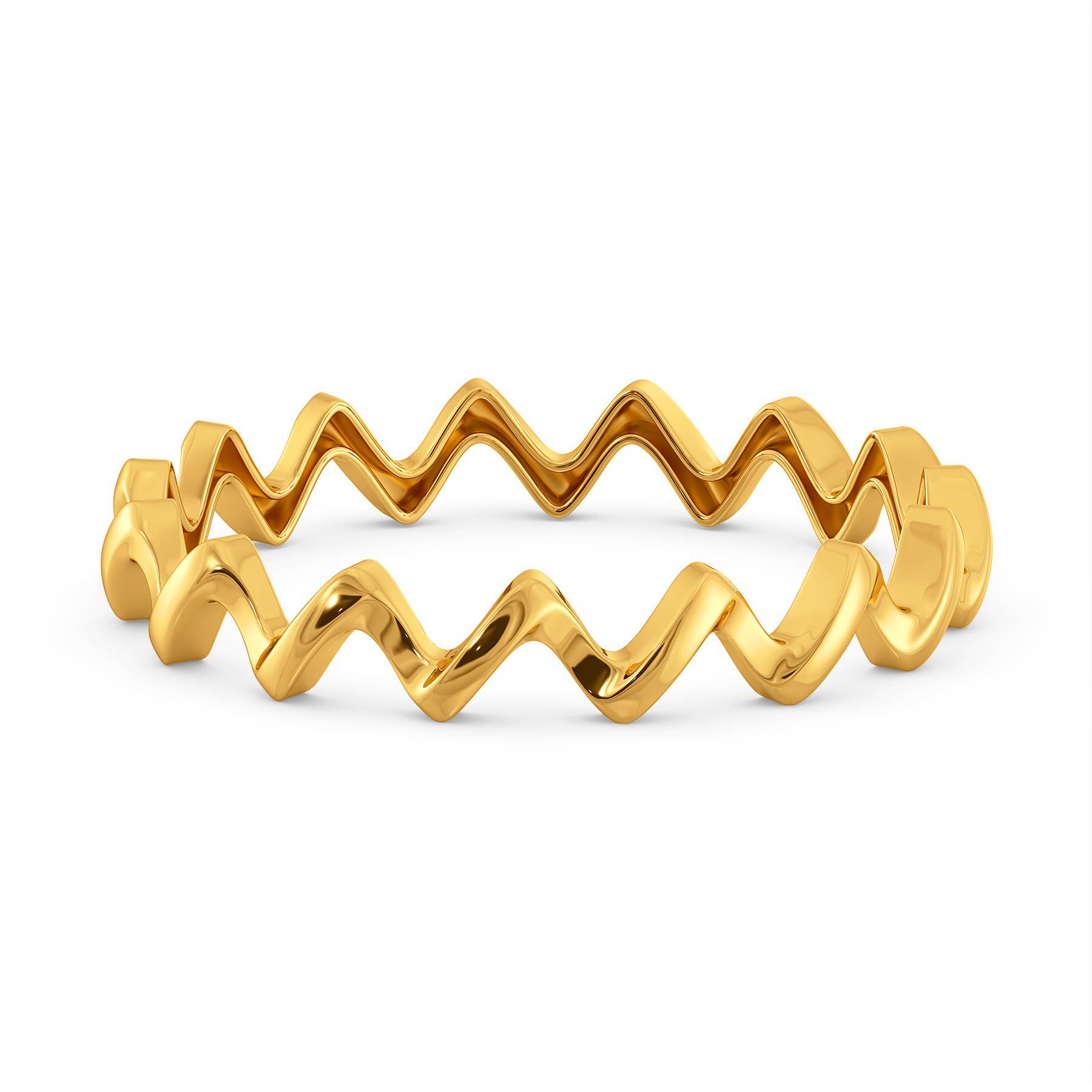 Wrap A Sash Gold Bangles