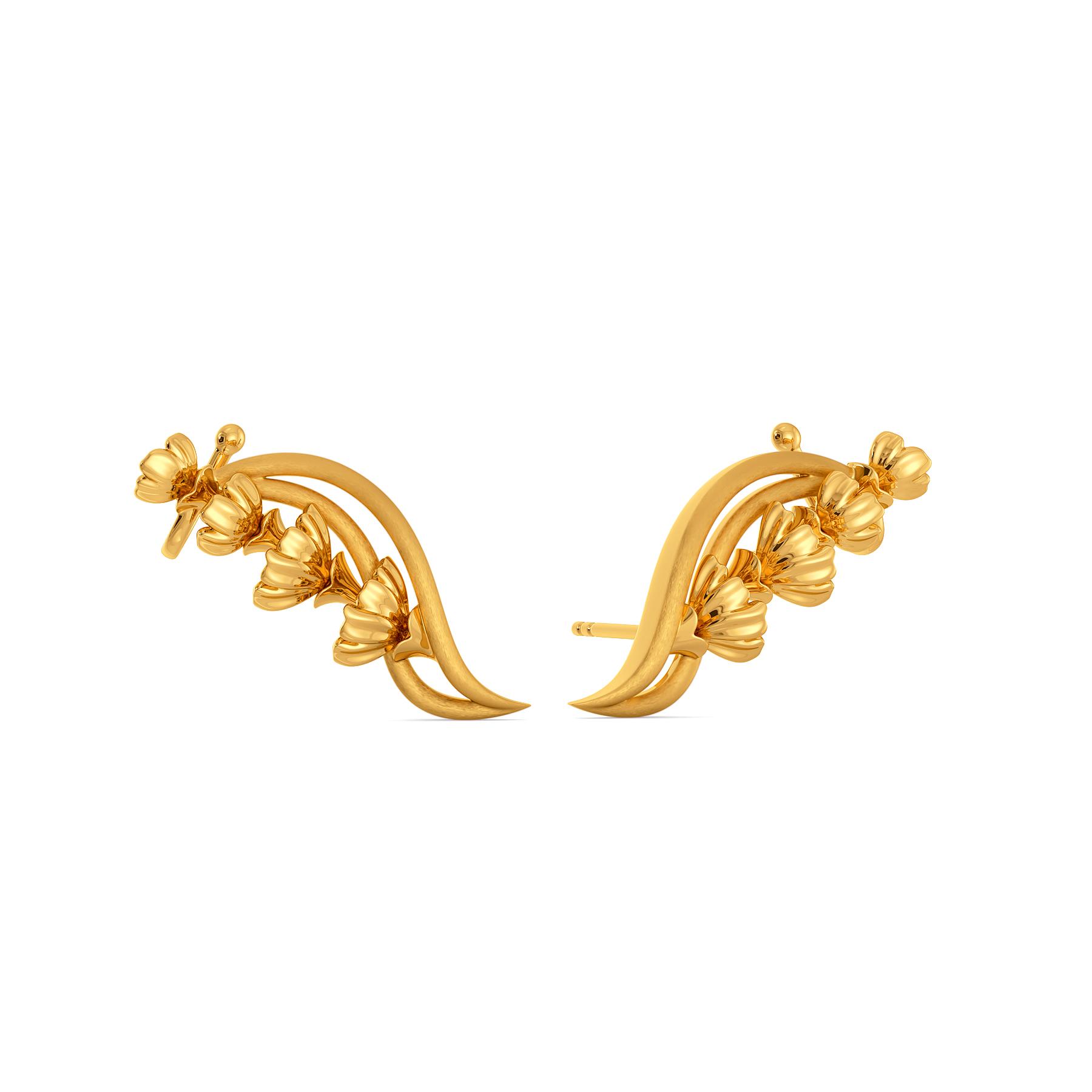 Blossom Bounty Gold Earrings