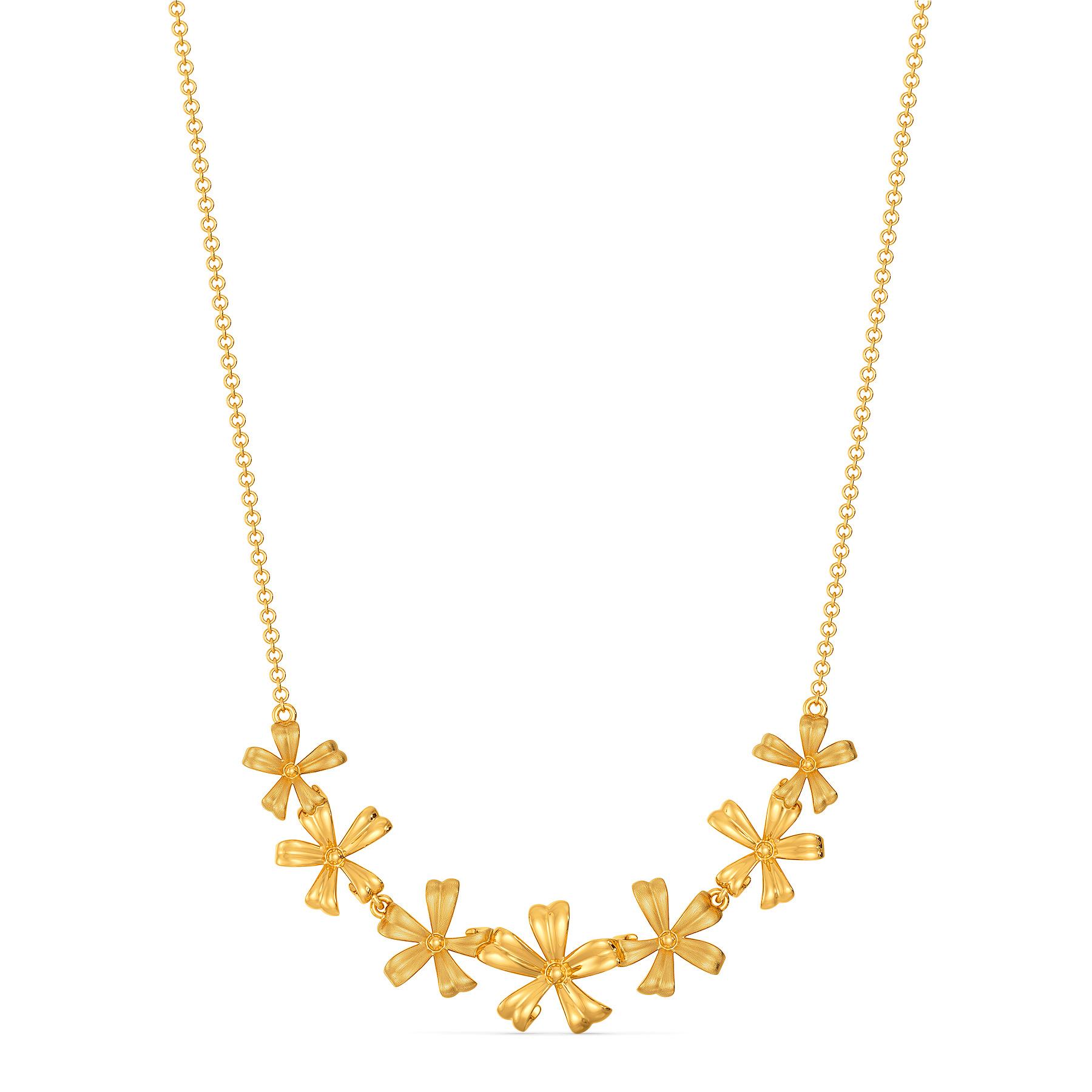 Flower Fantasy Gold Necklaces