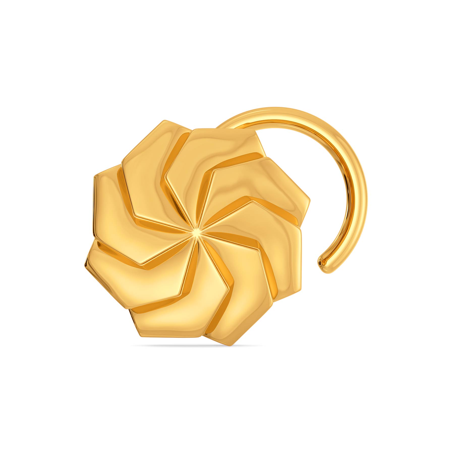 Urbane Hexa Gold Nose Pins