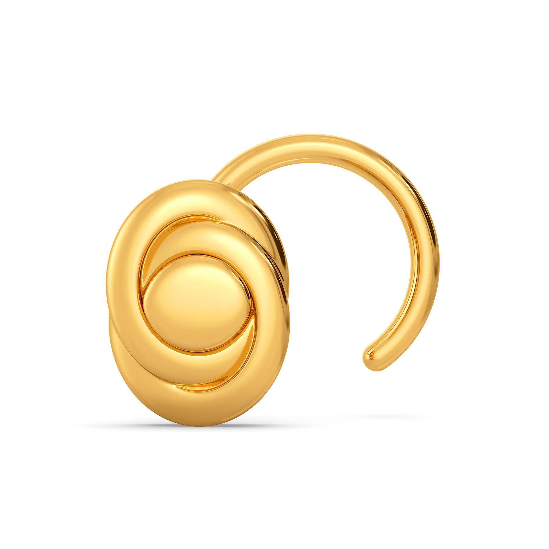 Oval Obsessed Gold Nose Pins