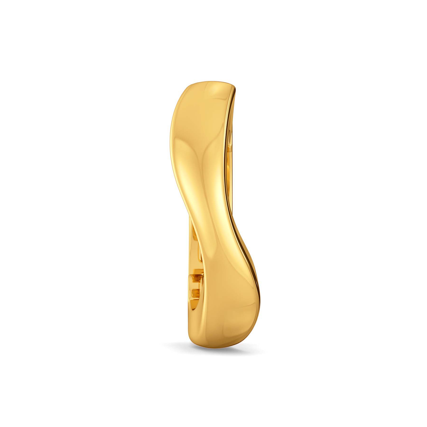 Curly Connotations Gold Nose Pins