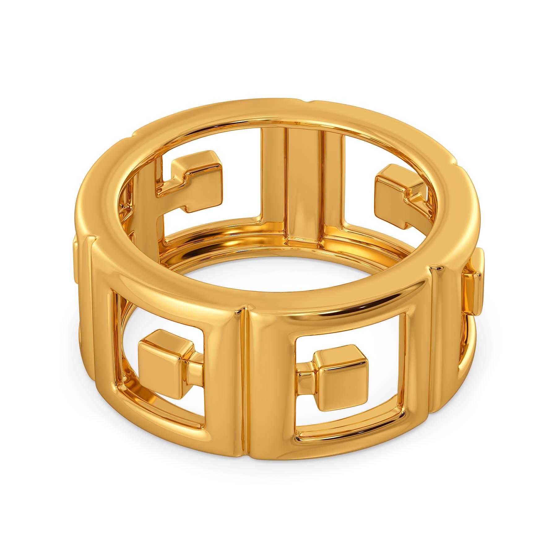 Link N Lock Gold Rings