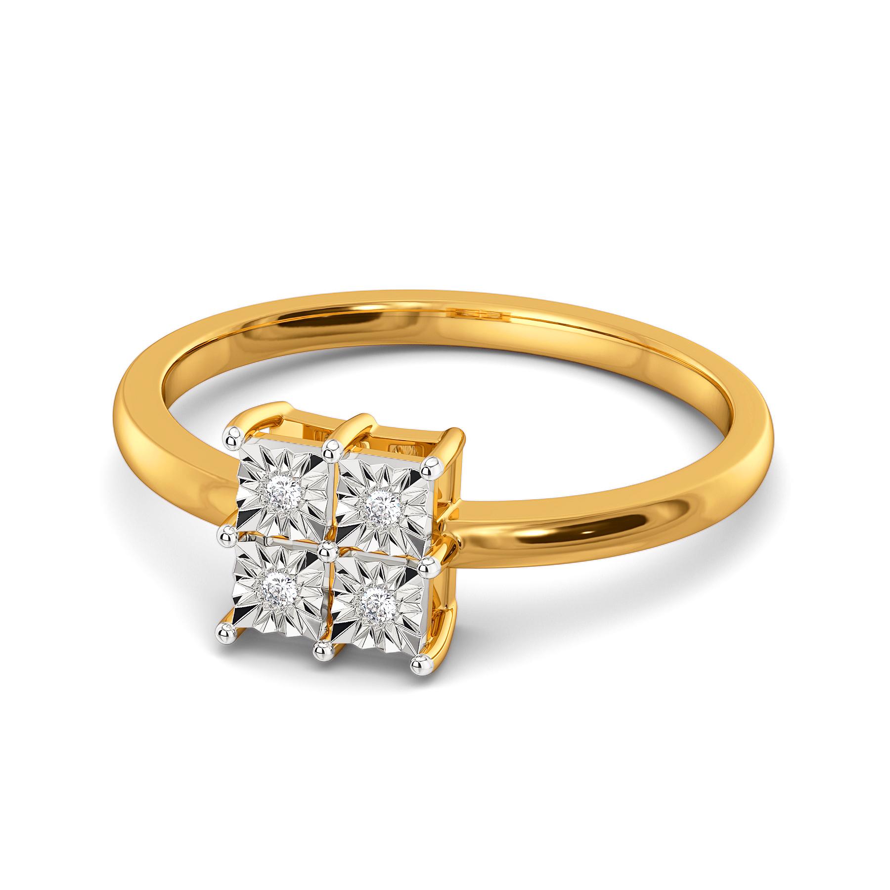 Rhomb N Razzle Diamond Rings