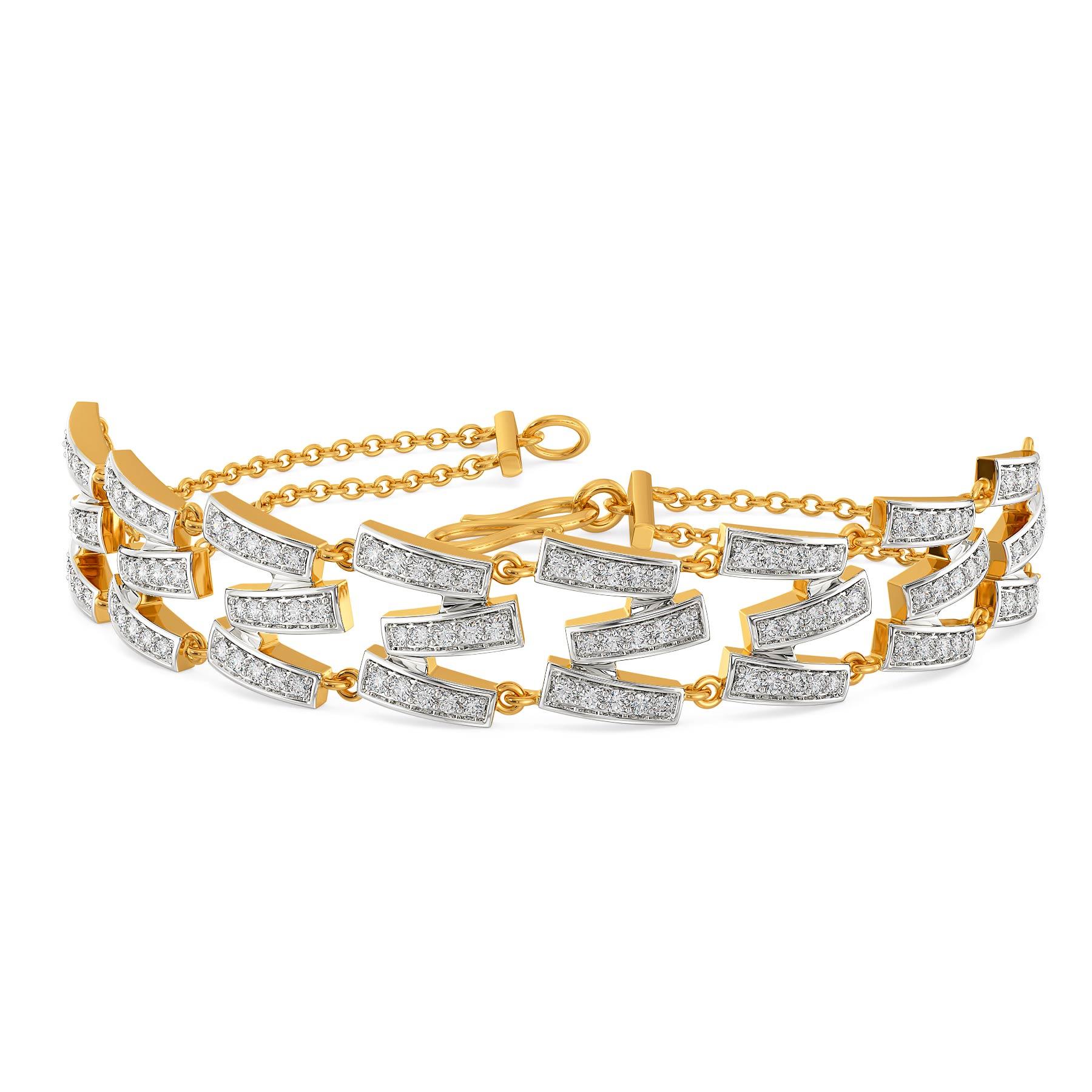 Tilt Shift Diamond Bracelets