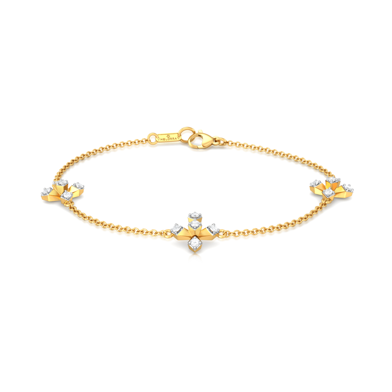 Plus Truss Diamond Bracelets