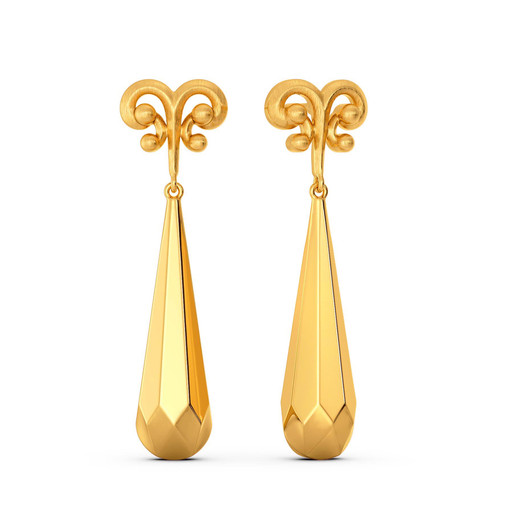 Doll Drama Gold Earrings