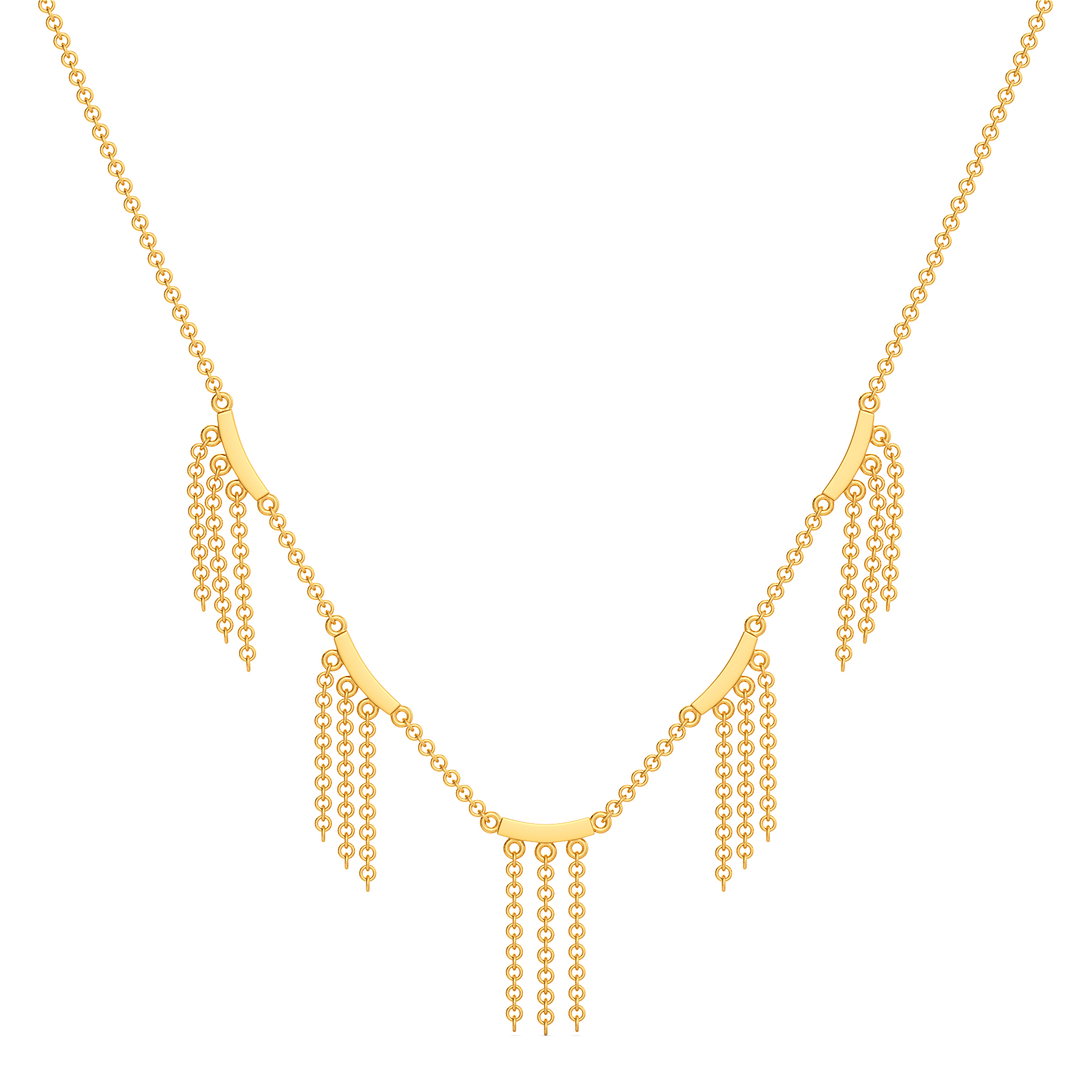 My Kinda Fringe Gold Necklaces