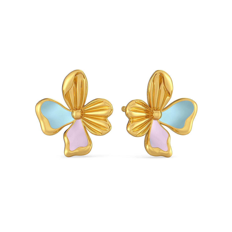 La Flor Gold Earrings