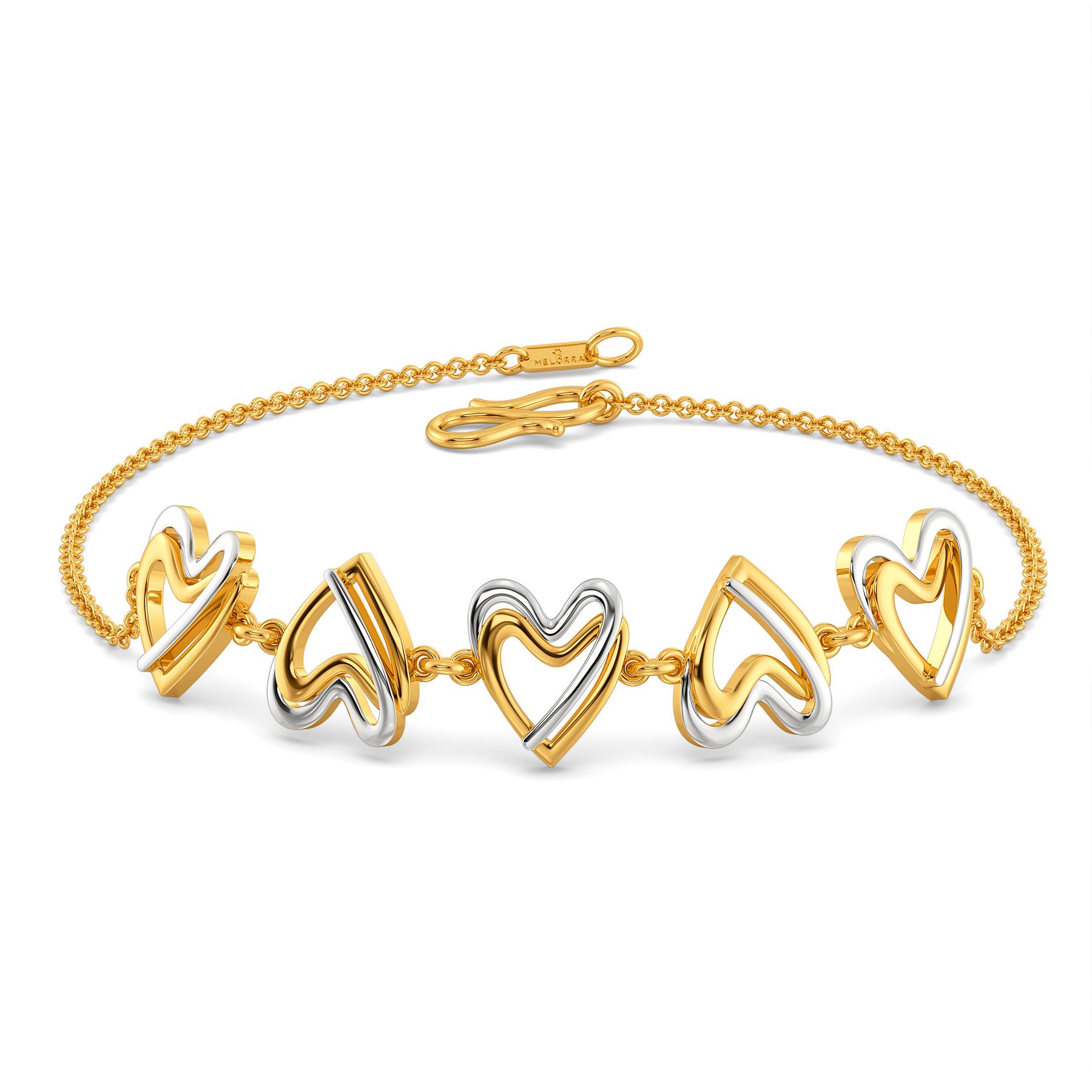 Double Dealing Gold Bracelets