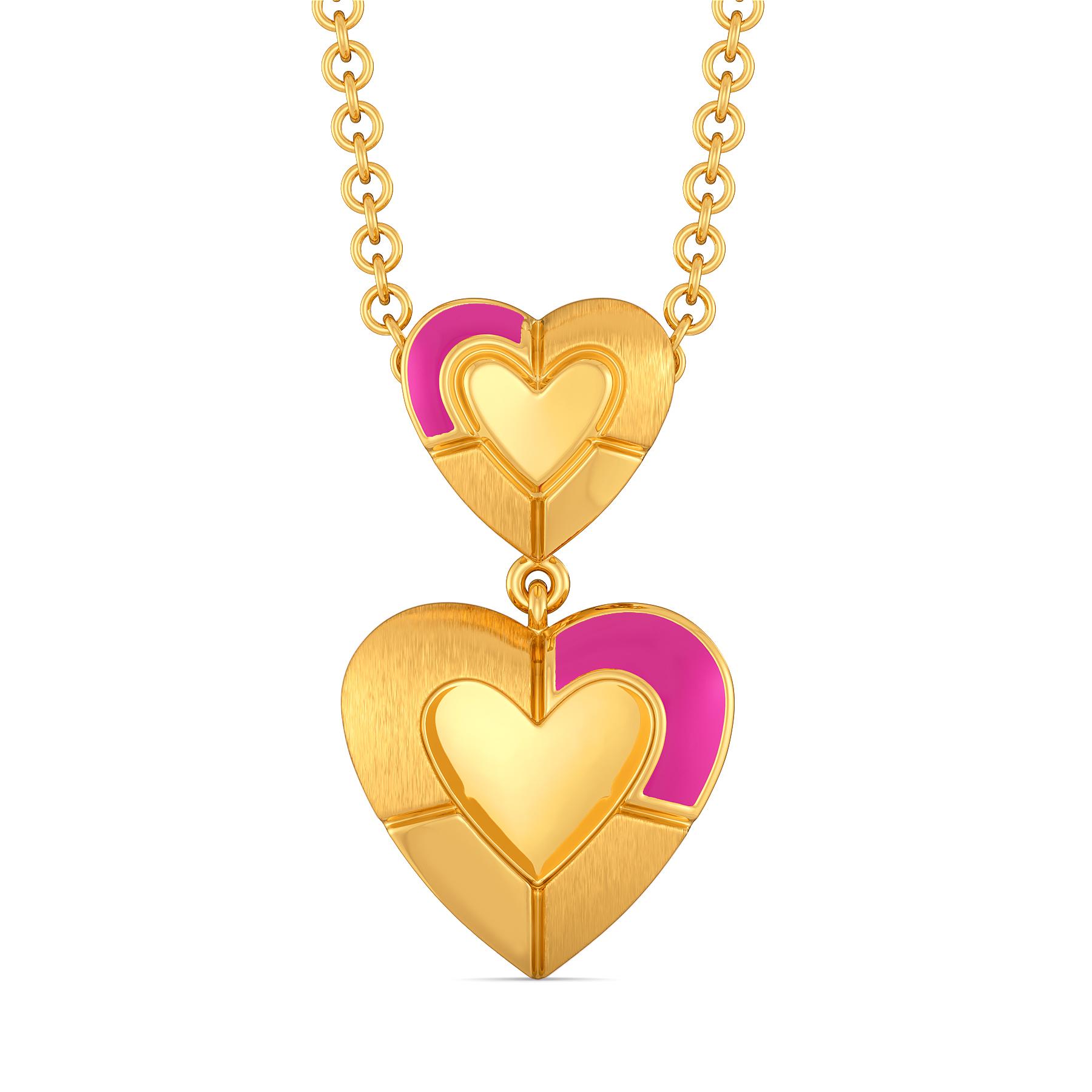 Romance Me Fuchsia Gold Pendants