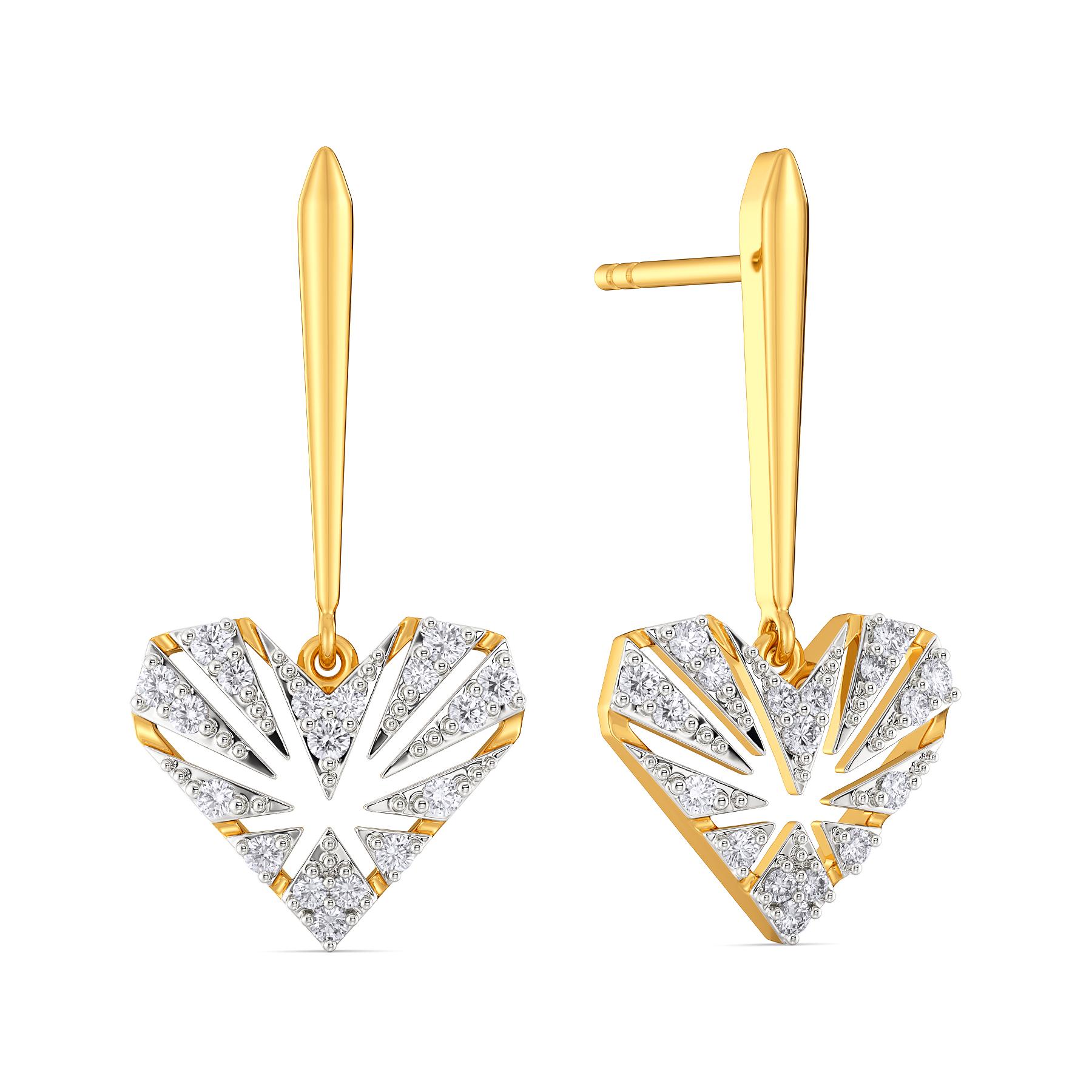 Pattern O Love Diamond Earrings