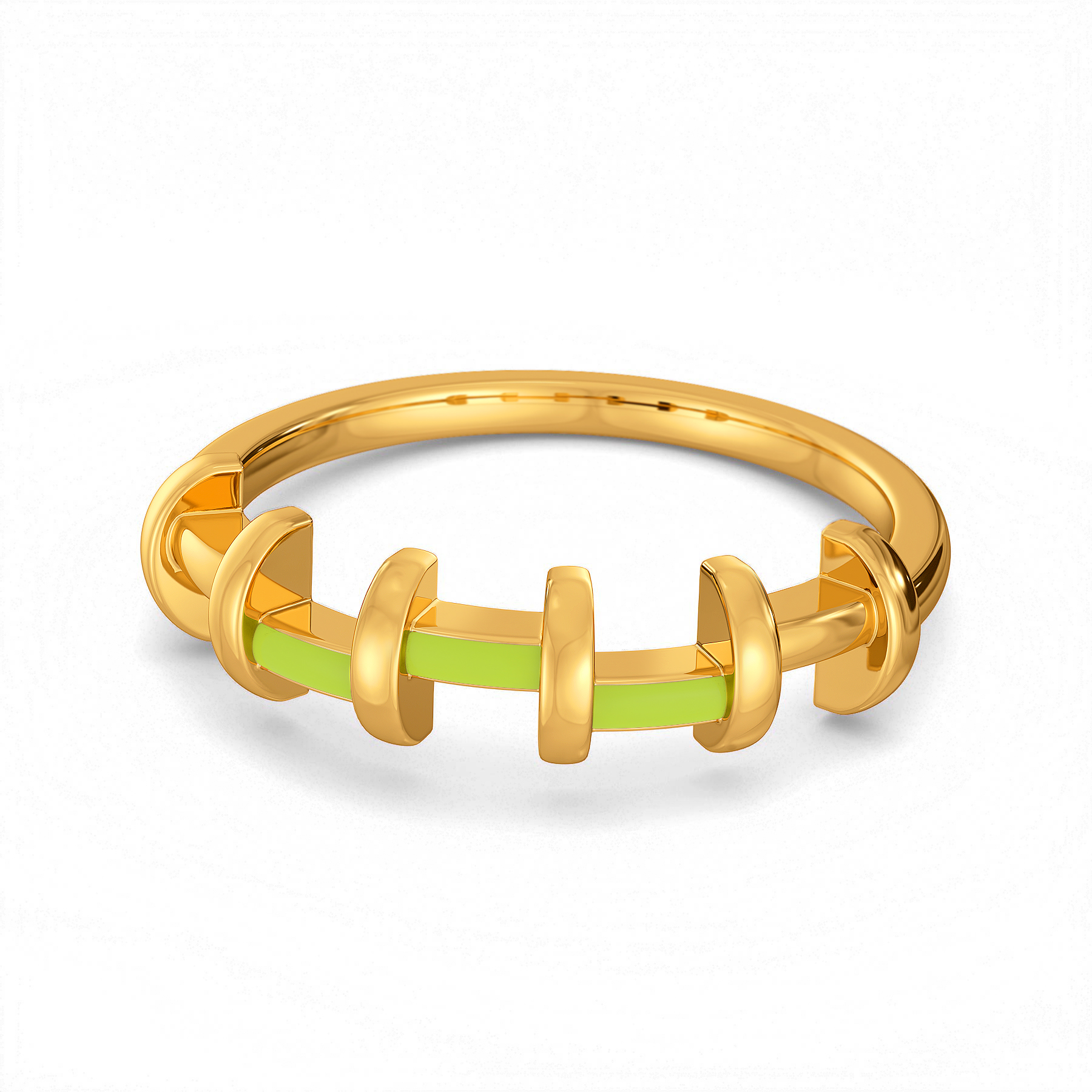 Lime N Licious Gold Rings