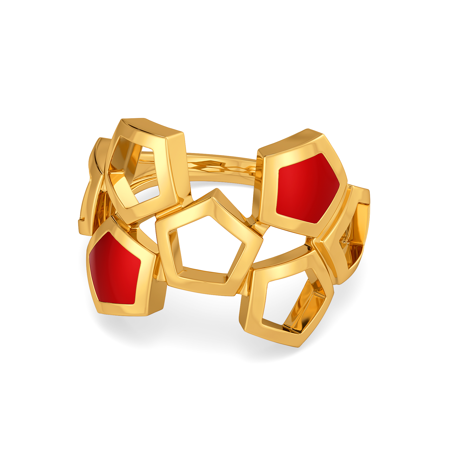 Pent Up Cherry Gold Rings