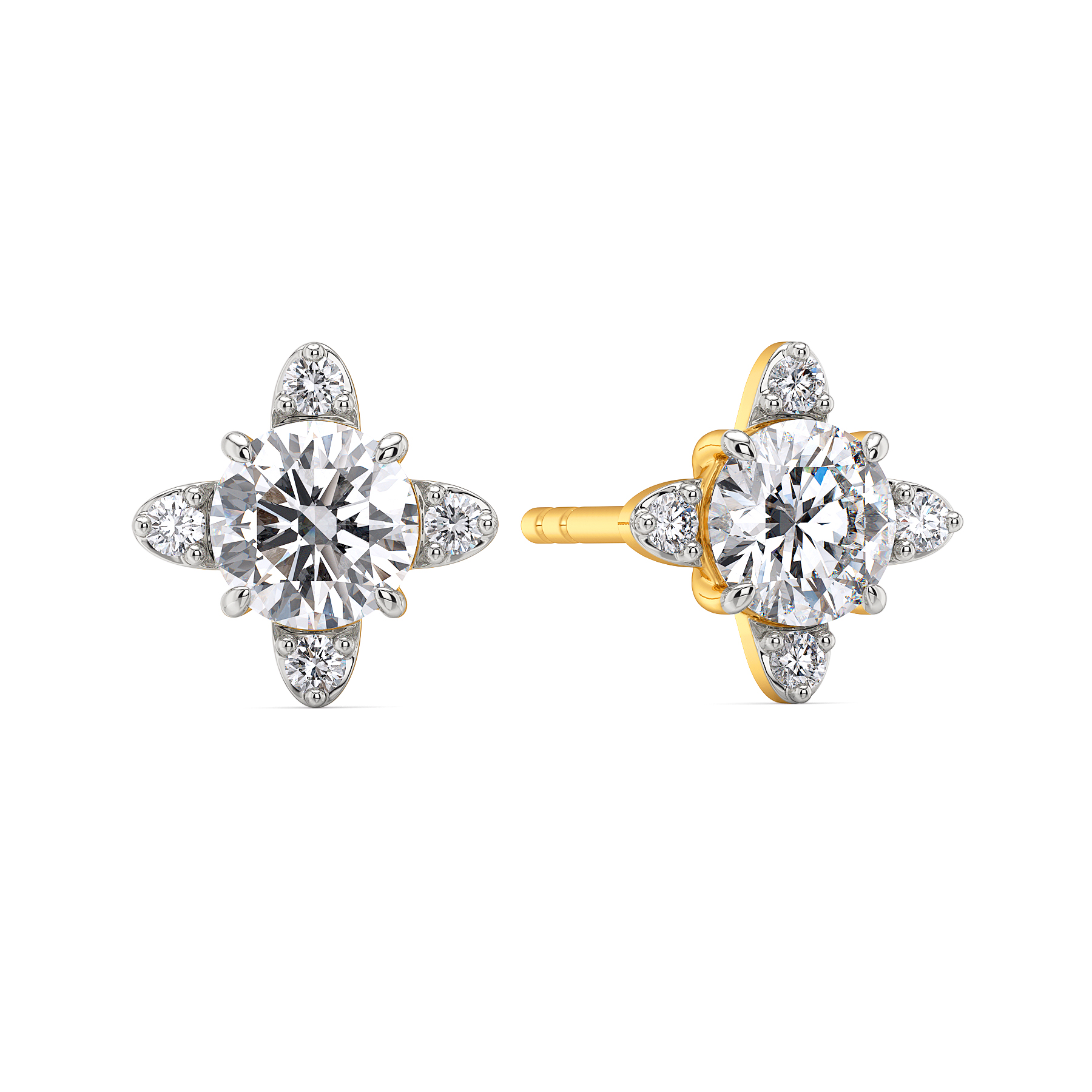 Glossy Guide Diamond Earrings