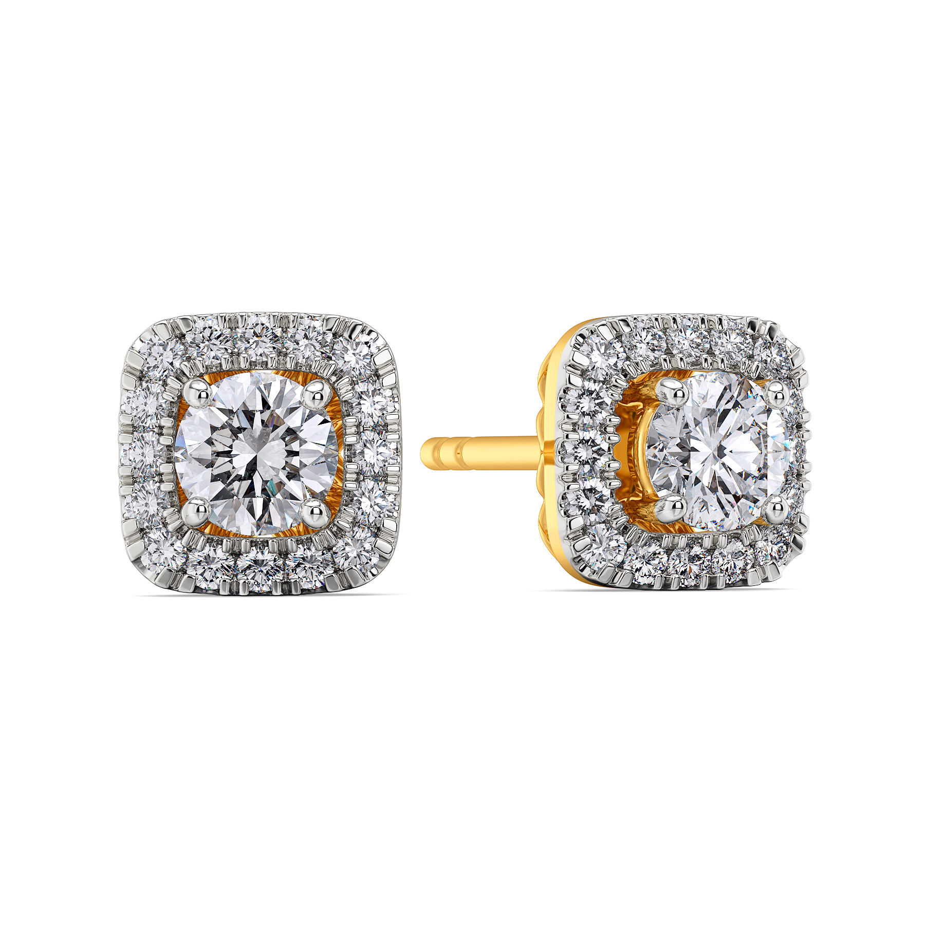 Square N Shine Diamond Earrings
