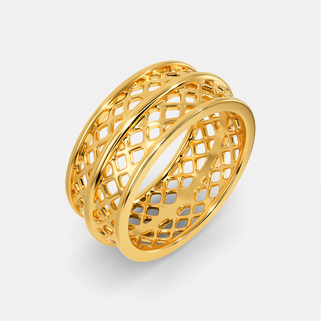 Breezy Bubbly Gold Rings