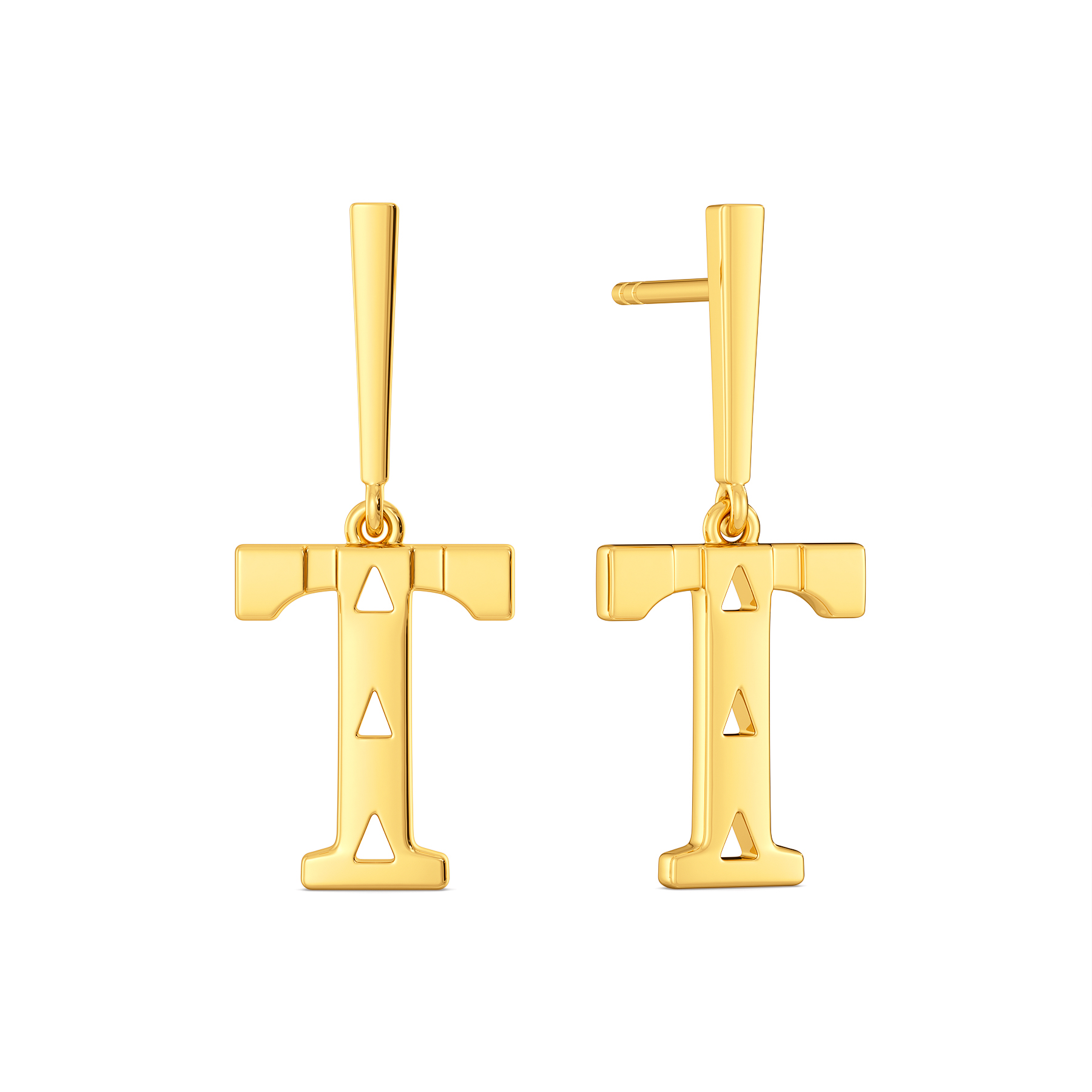 Tiger Stealth Gold Earrings