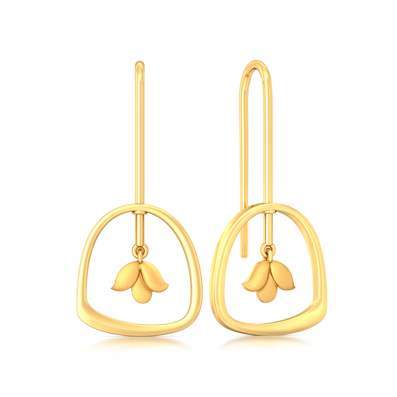 Shy Lily Gold Earrings