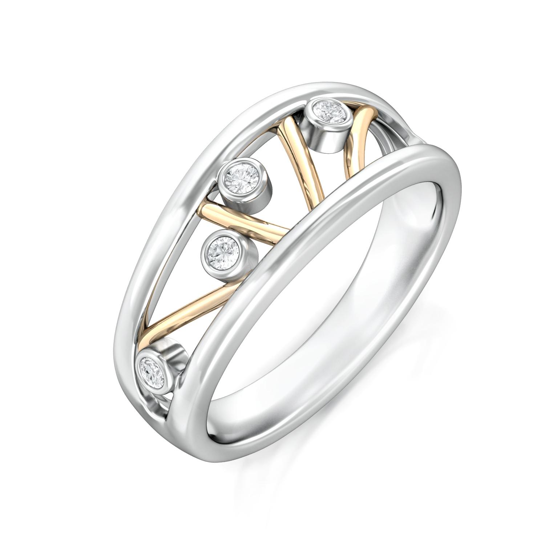 Twiggy Doodle  Diamond Rings