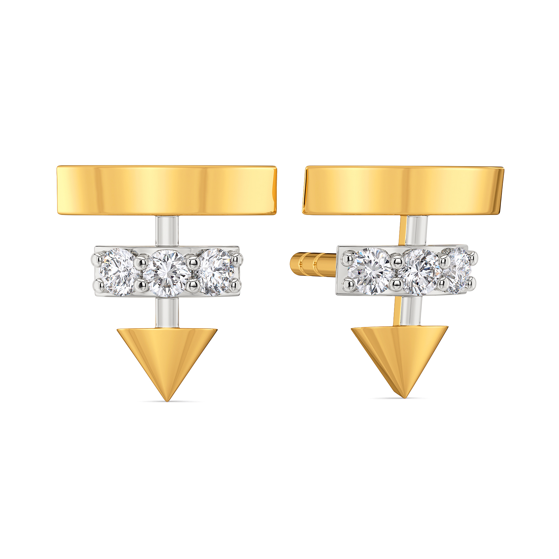 Slant Dance Diamond Earrings