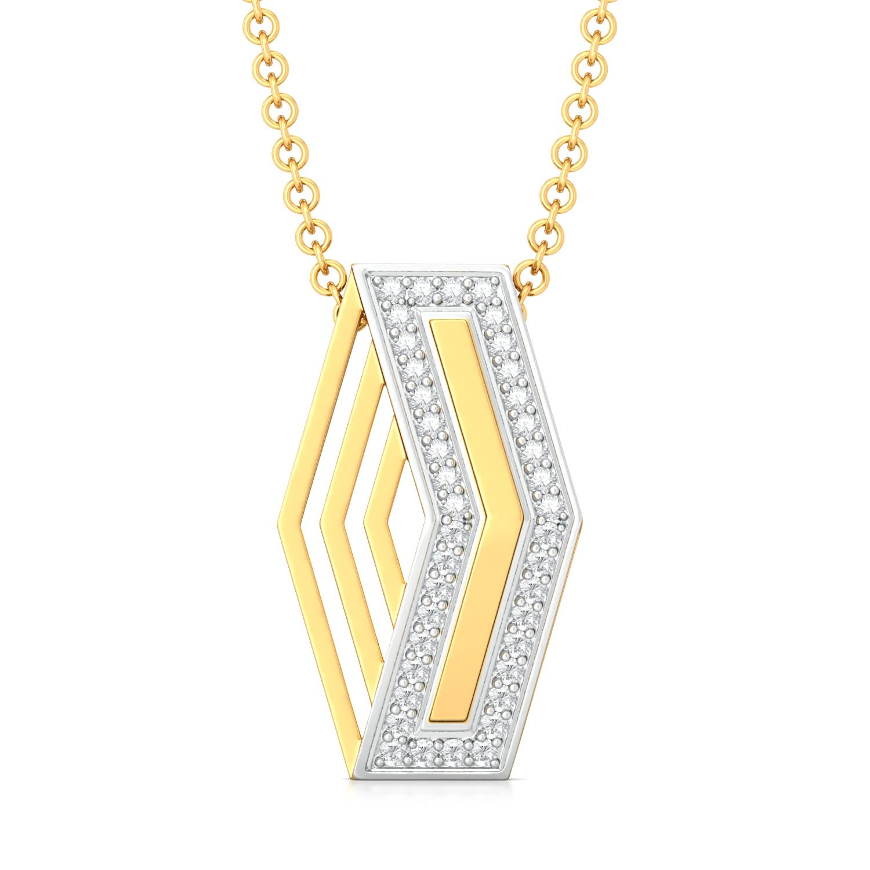 Criss-Cross Diamond Pendants