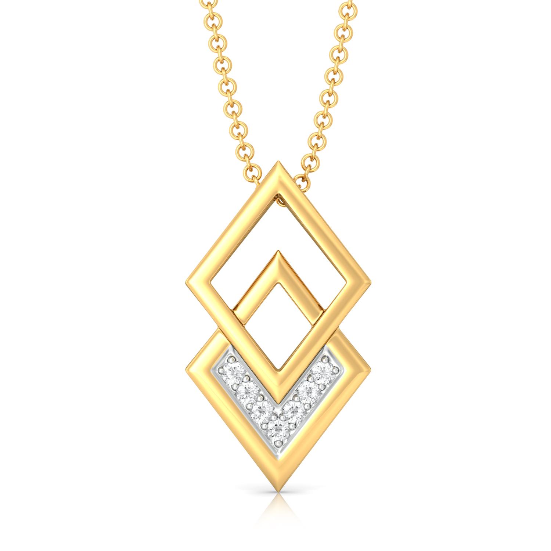Rhombo Combo Diamond Pendants