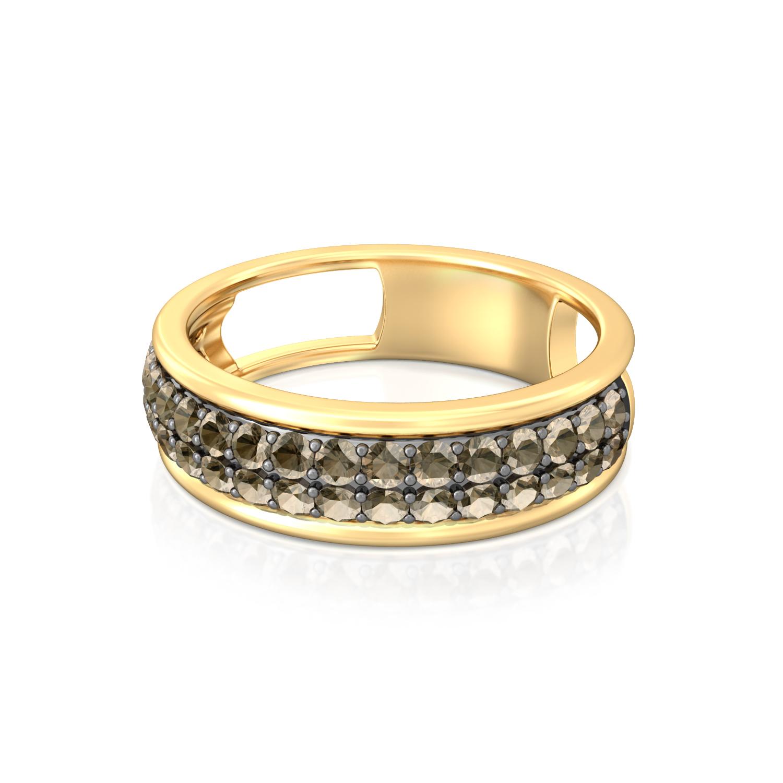 Dark Moon Gemstone Rings