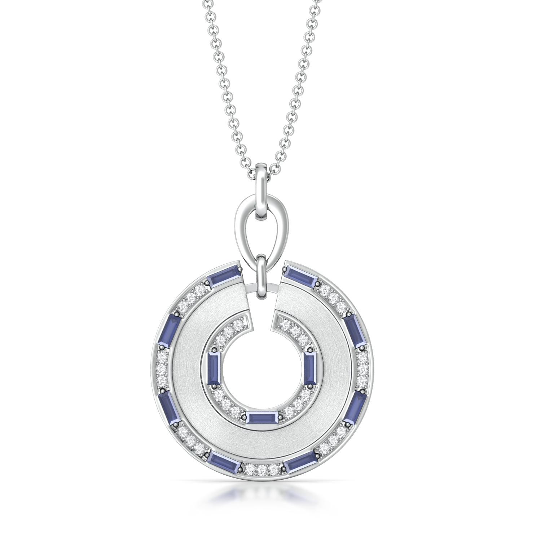 Sequential Blue Diamond Pendants