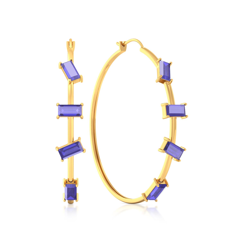 Random Rectangle Gemstone Earrings